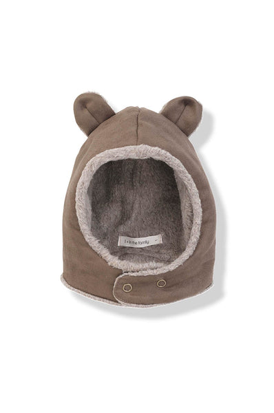 Alf faux suede hat with ears caramel 1 + in the family