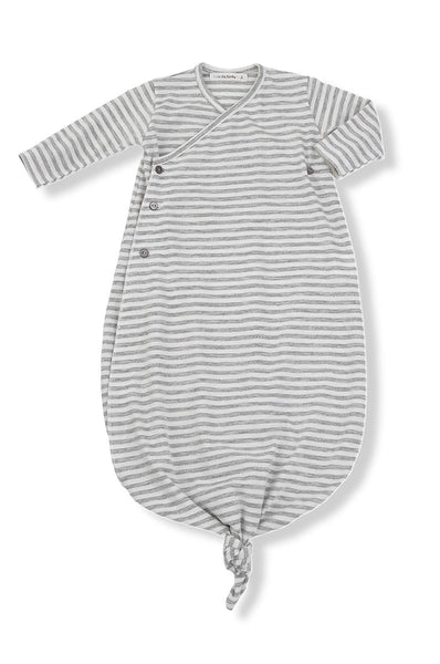 1 + in the family Dora Stripe newborn Kimono light grey