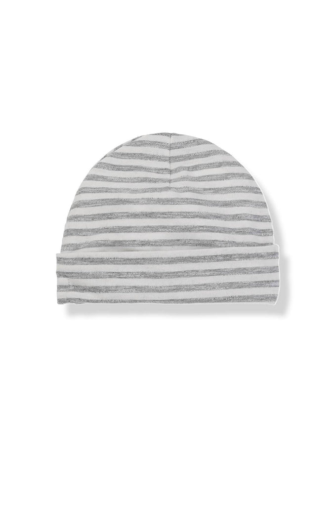 Eva Stripped hat light grey 1 + in the family