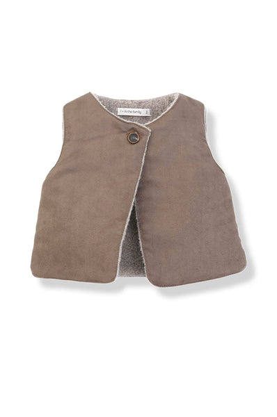 1 + in the family India Faux suede vest caramel