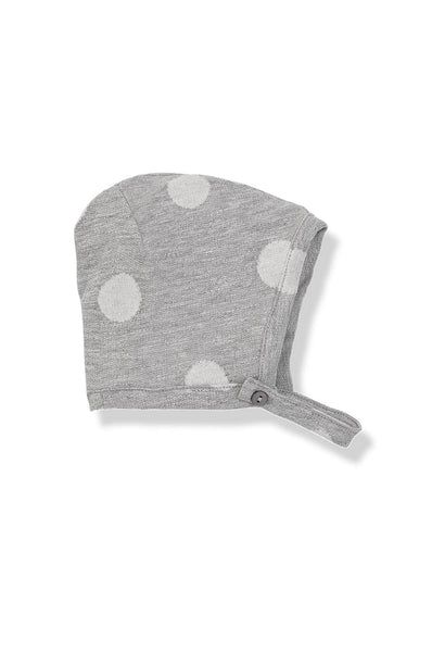1 + in the family Otis hat grey white dots