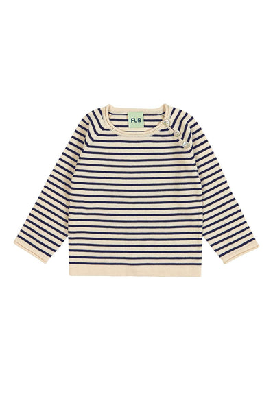 FUB Fine Knit Sweater ecru/navy