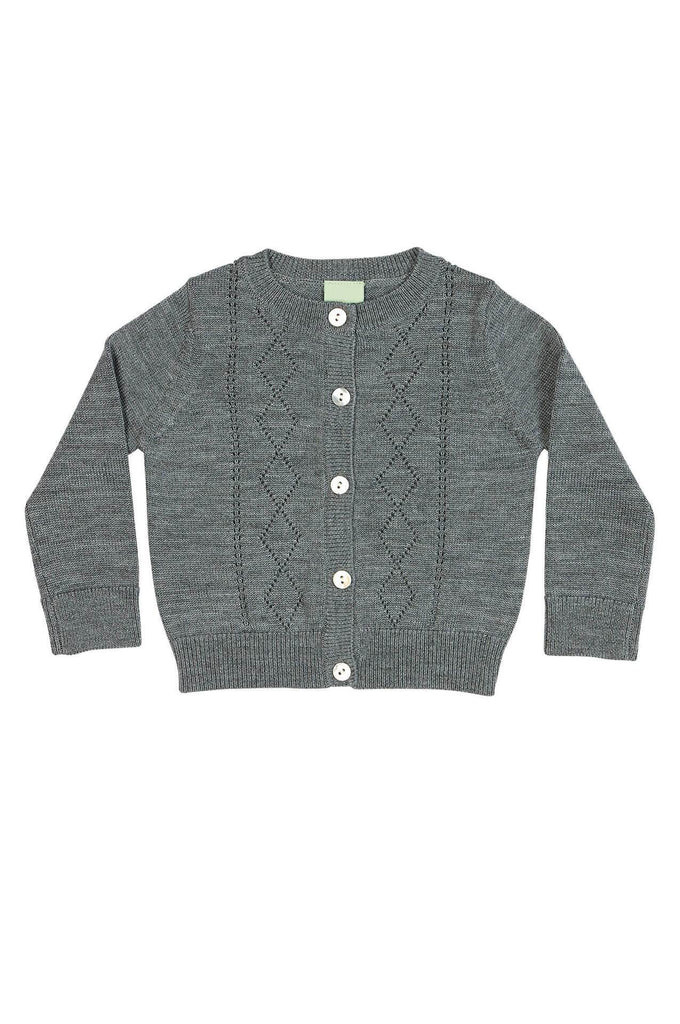 FUB Baby Pointelle Cardigan grey
