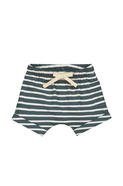 Gray Label Baby Shorts Blue Grey/White Stripe