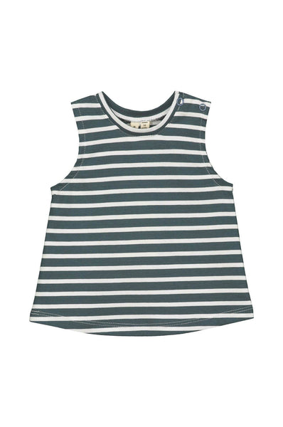 Gray Label Baby Striped Tank Top Blue Grey/White Stripe