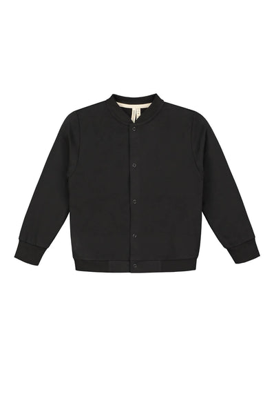Baseball Cardigan Nearly Black Gray Label