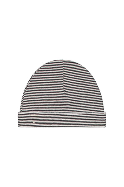 Gray Label Baby Beanie Nearly Black/ Cream Stripe
