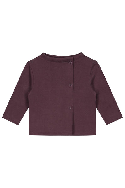 Gray Label Baby Button Cardigan Plum