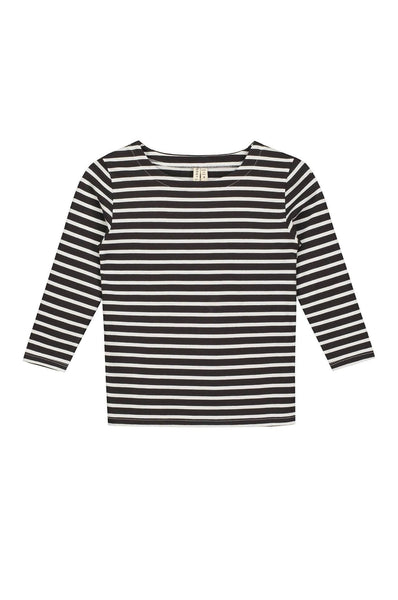 Gray Label L/S Striped Tee Nearly Black/White Stripe
