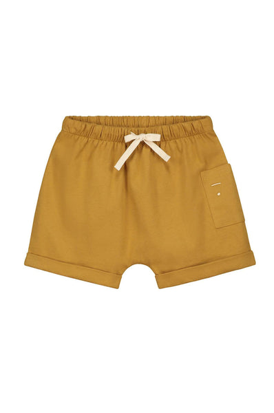 1 Pocket Shorts Mustard Gray Label