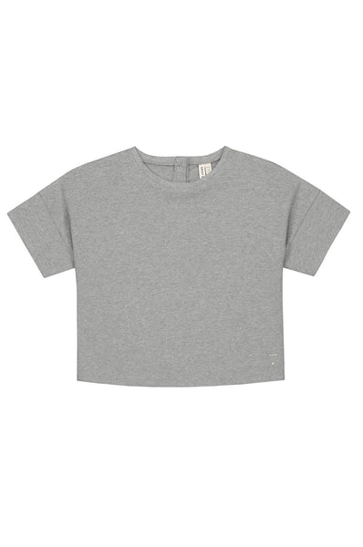 Gray Label Oversized Crop Tee Grey Melange