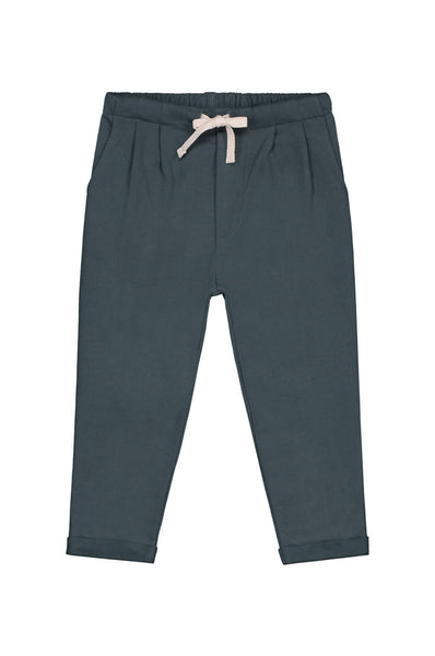 Gray Label Pleated Trousers Blue Grey