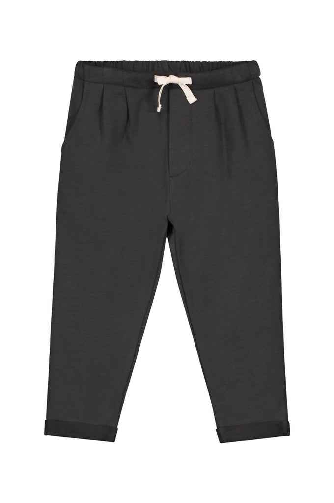 Pleated Trousers Nearly Black Gray Label
