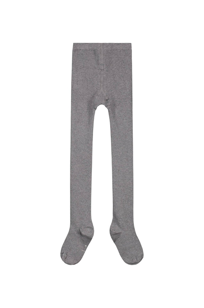 Gray Label Ribbed Tights Grey Melange
