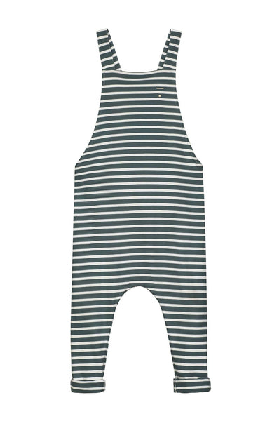 Gray Label Summer Salopette Blue Grey/White Stripe