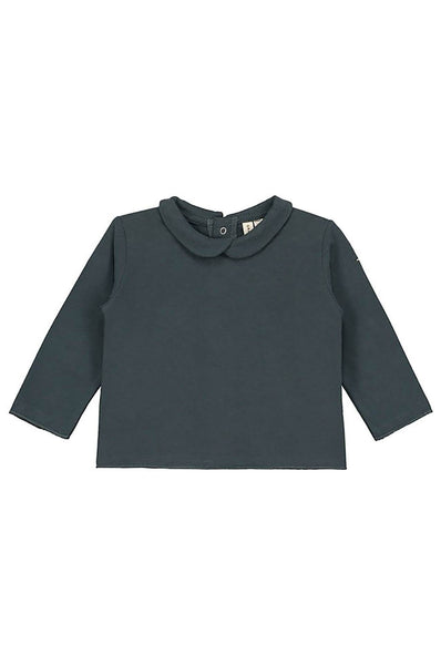 Gray Label Baby Collar Tee Blue Grey