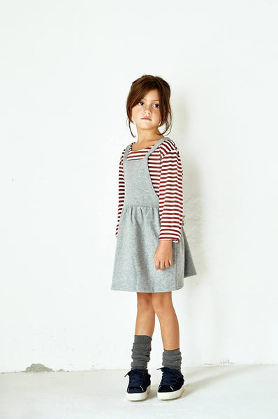 Gray Label Pinafore Dress Grey Melange