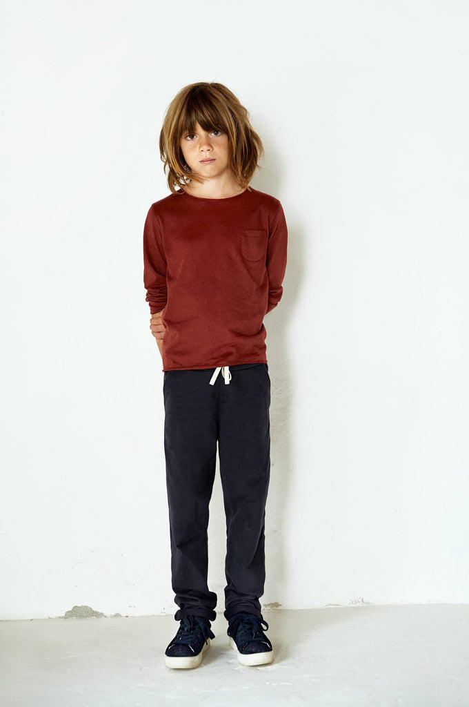 Gray Label Pocket L/S Tee Burgundy