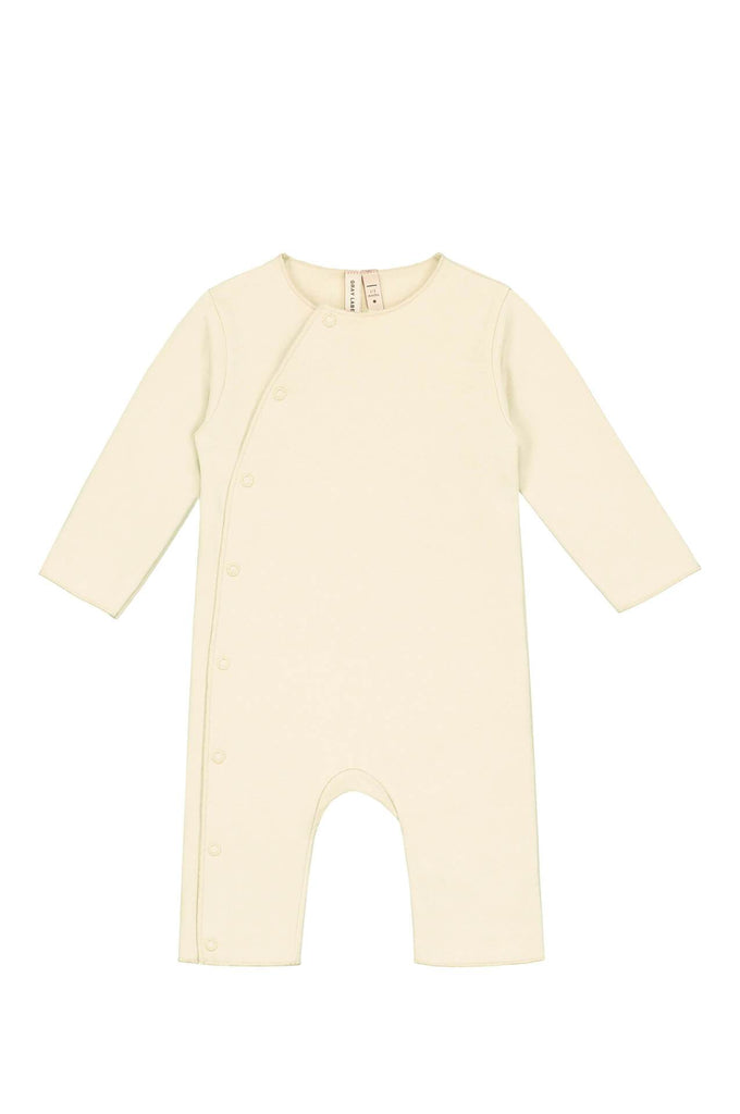 Baby Suit with Snaps Cream Gray Label