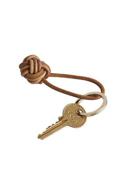 Keyring Knot with Brass Ring