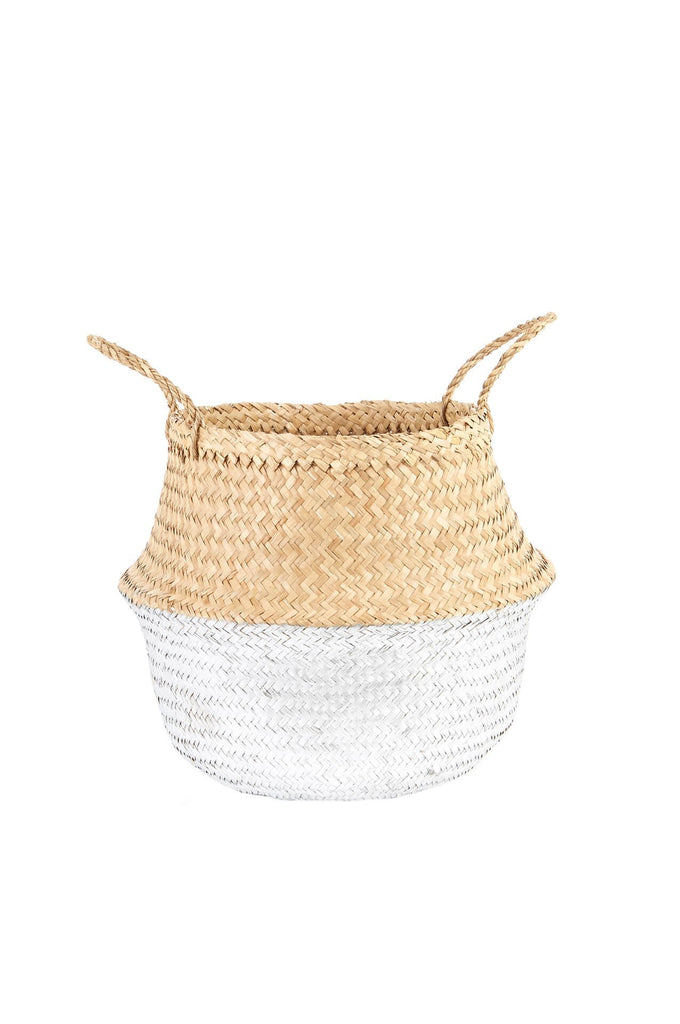 Olli Ella  Silver Dipped Belly Basket - Medium