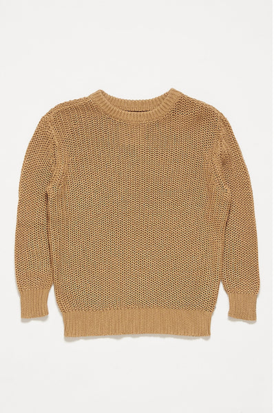 Repose AMS Camel Knit Sweater