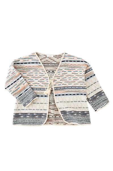 Tocoto Vintage  Tribal Jacket w/pompom belt