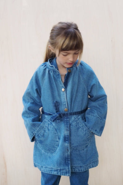 Alphons Coat Blue Denim