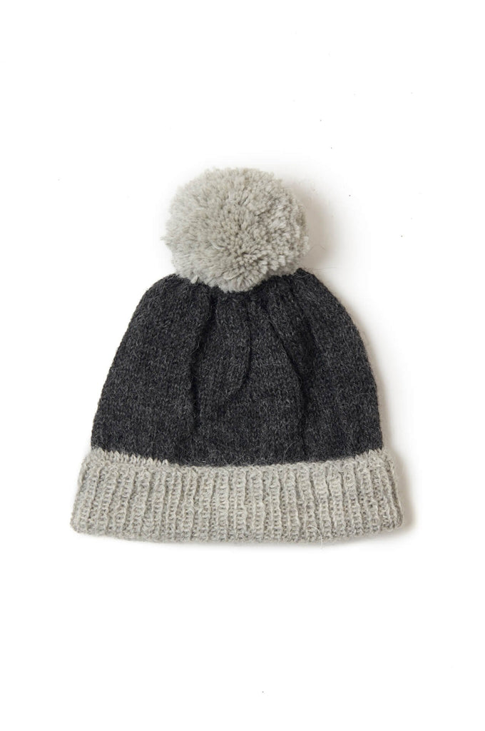 Pom Pom Hat charcoal/grey