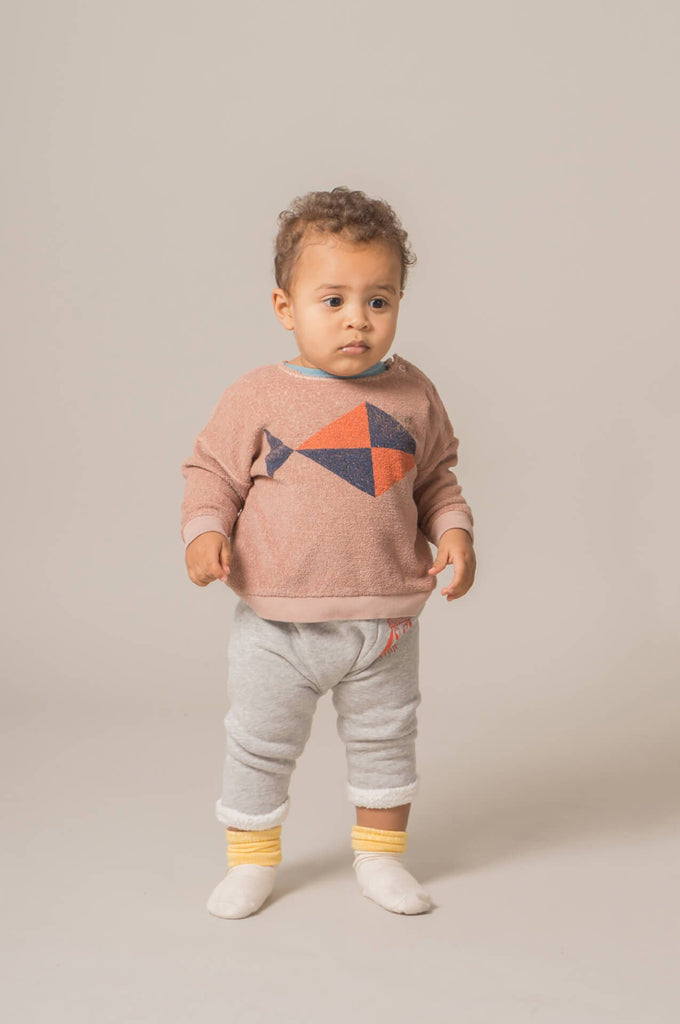 Bobo Choses Fish Baby Sweatshirt