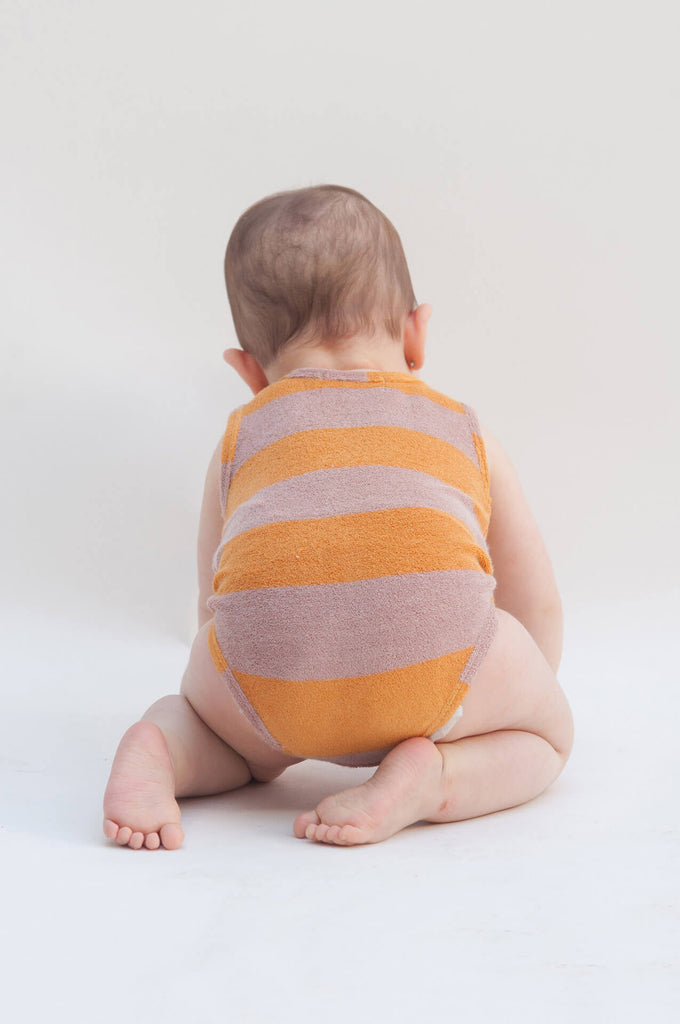 Bobo Choses The Cyclist Striped Terry Body