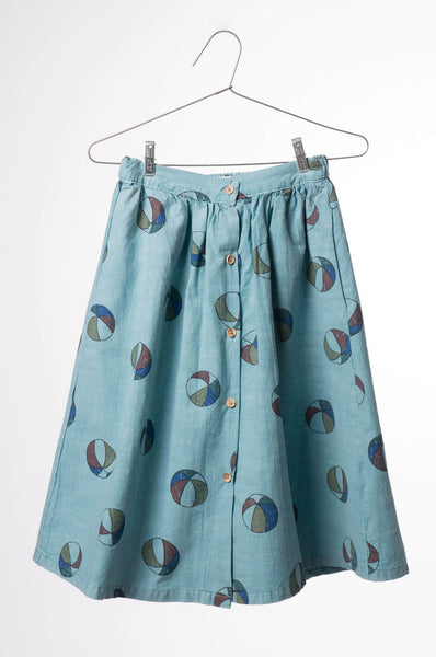 Bobo Choses Basketballs Midi Skirt Buttons