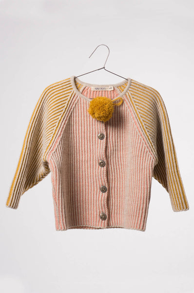 Bobo Choses  Knitted Cardigan Bicolour Pink