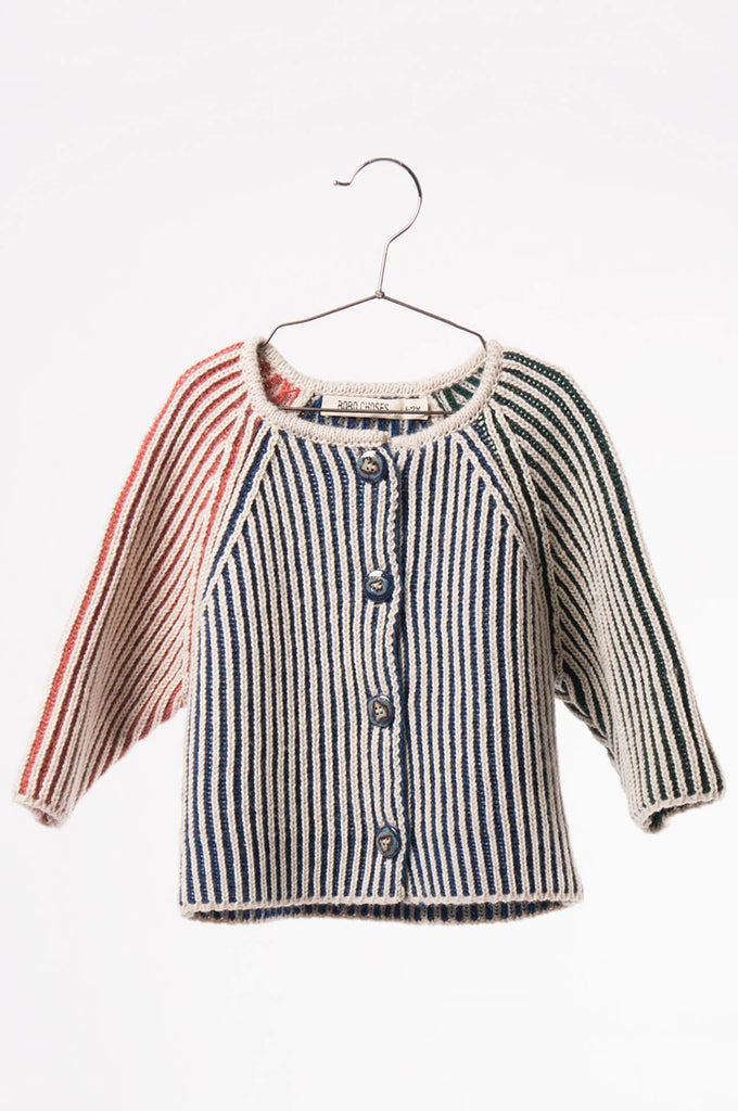 Bobo Choses  Baby Knitted Cardigan Blue