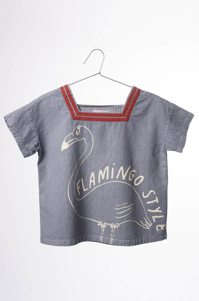 Bobo Choses Flamingo Sailor Shirt