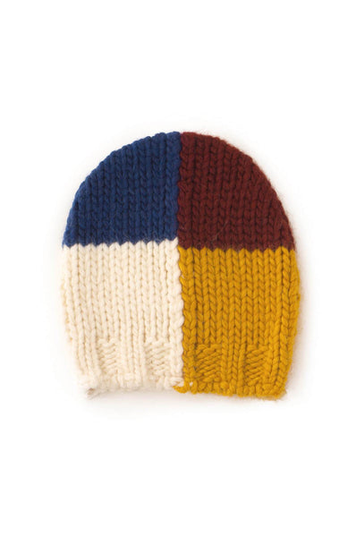 Multicolor knitted beanie square