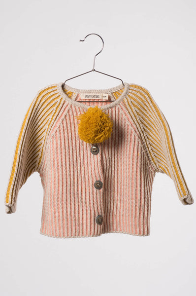 Bobo Choses  Baby Knitted Cardigan Pink