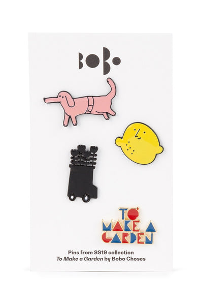 Bobo Choses TO MAKE A GARDEN Pins Pack x4