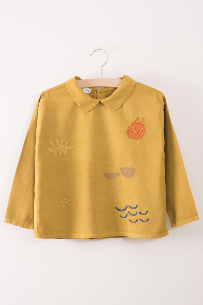 Bobo Choses Sea Junk Embroidered Buttons Blouse