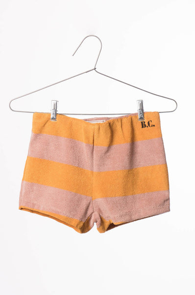 Bobo Choses B.C. Golden Striped Terry Shorts
