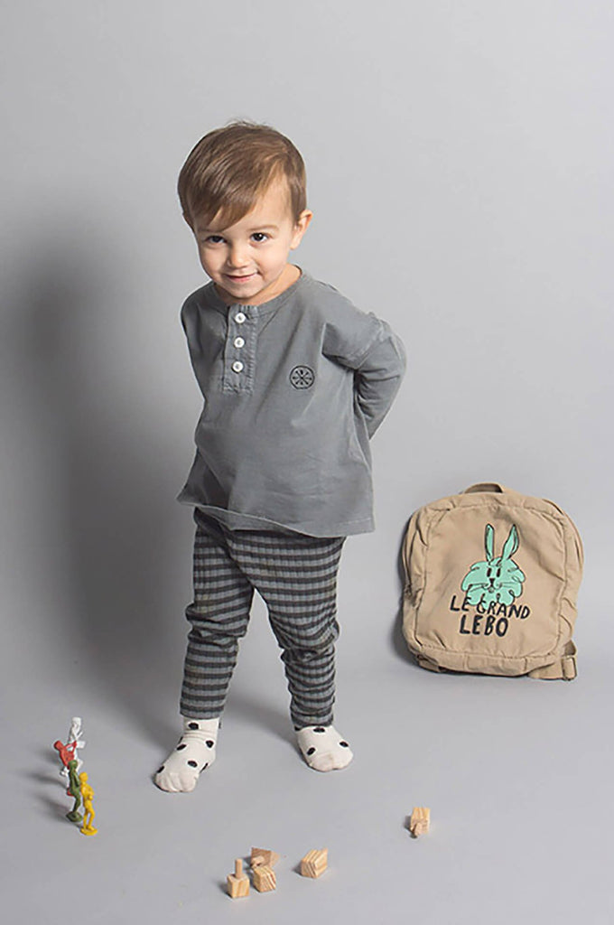 Bobo Choses Gray Striped Baby Leggings