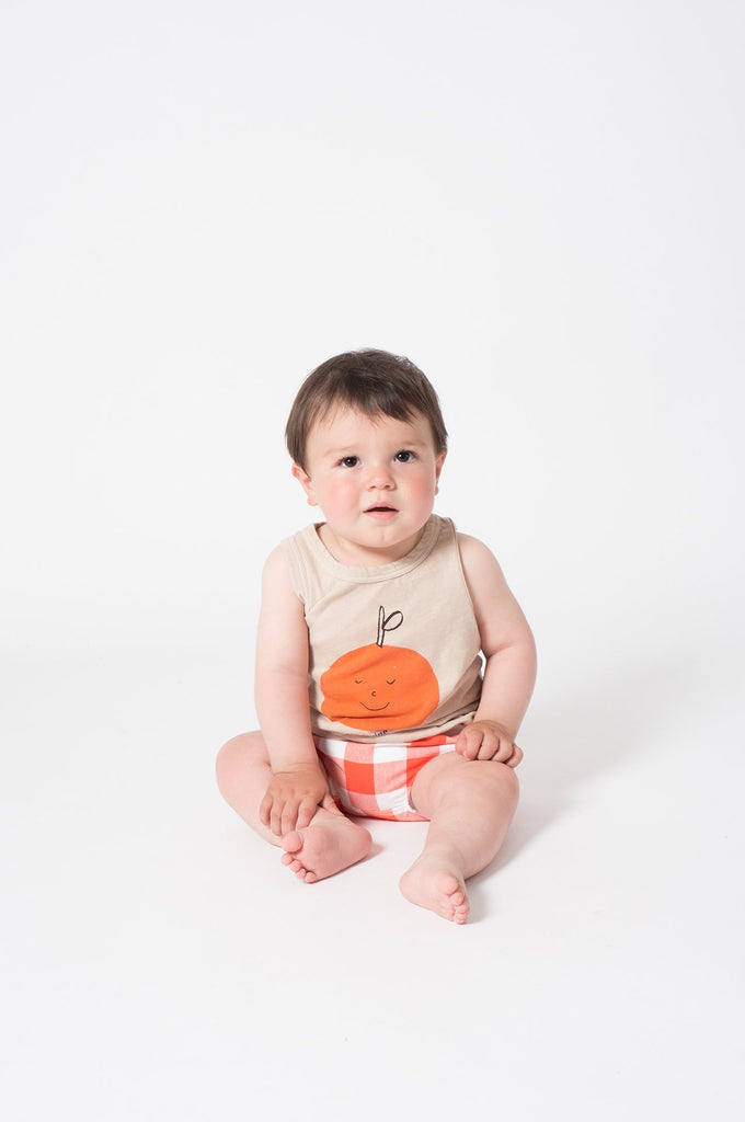 Bobo Choses Tangerine Dreams Linen Tank Top