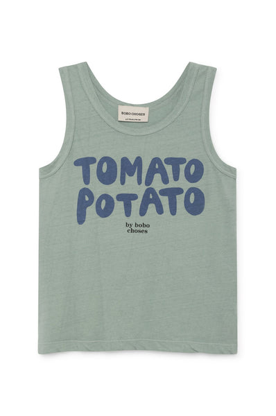 Bobo Choses Tomato Potato Linen Tank Top