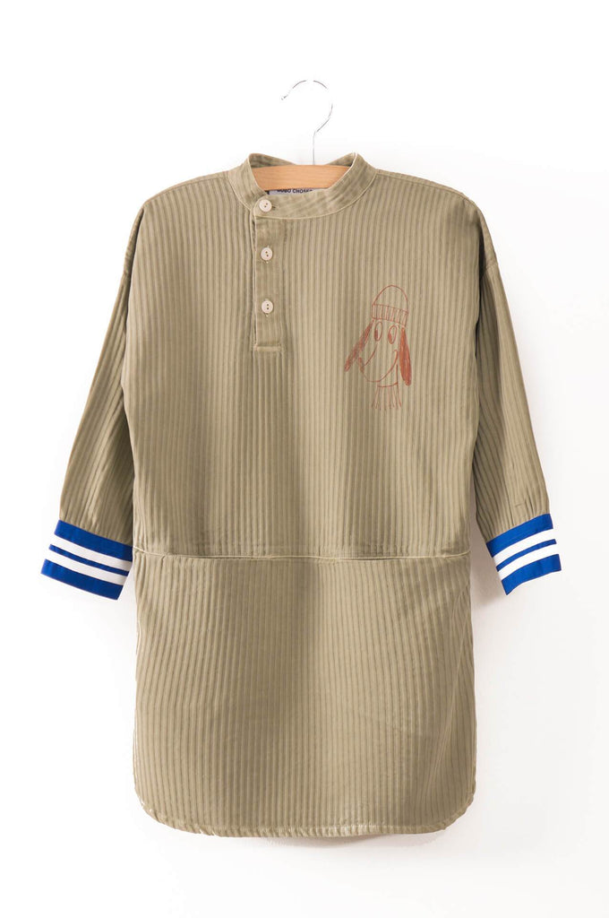 Bobo Choses Loup Embroidered Tunic Dress