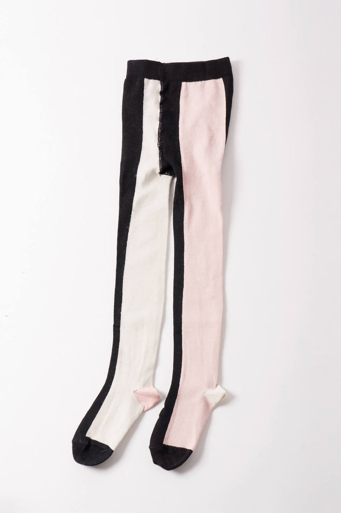Bobo Choses  Vertical Multicolour Tights Pink