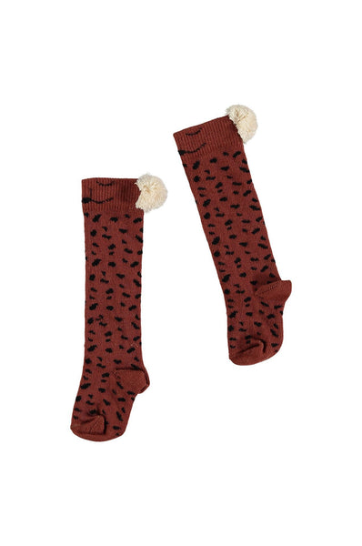 Buho Animal Baby Knee Socks Caramel