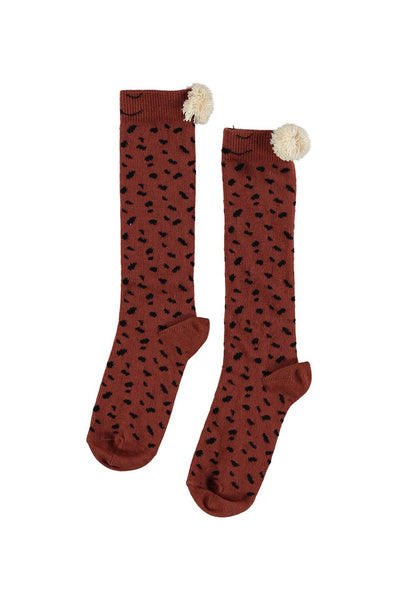 Buho Animal Knee Socks Caramel