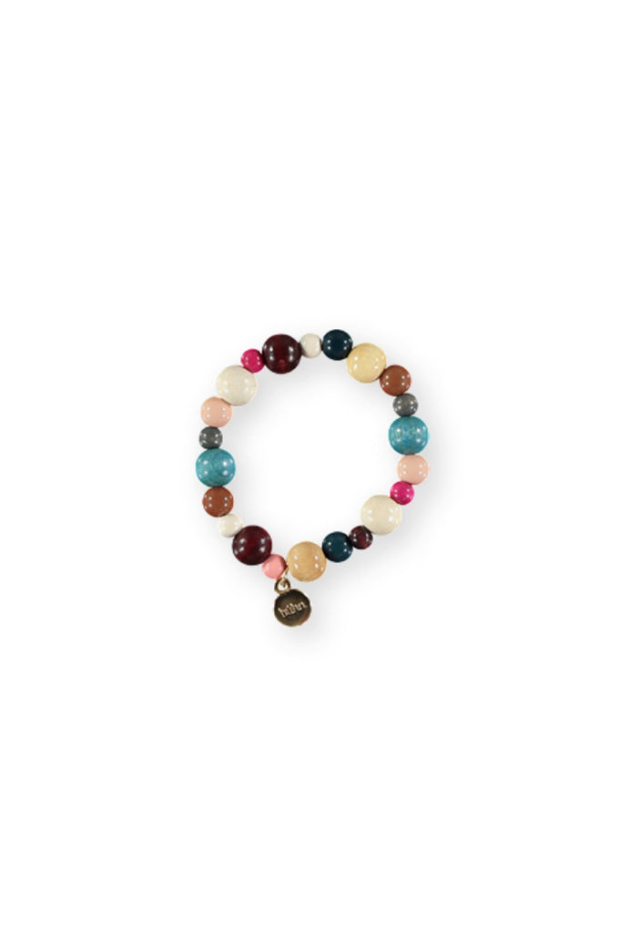 Buho Bracelet Wood Balls Multicolor