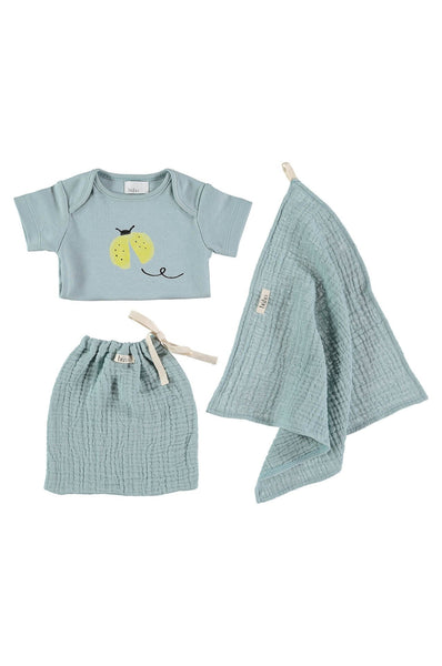 Buho Baby Set Ladybugs - Light Green