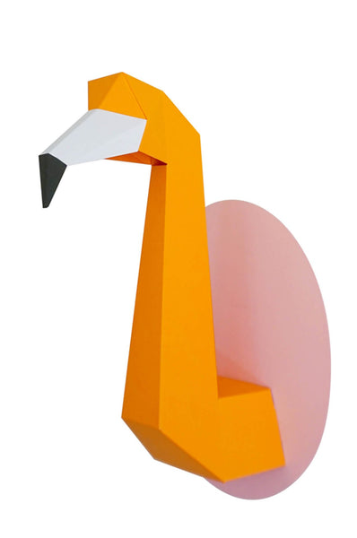 Chloé Fleury  Flamingo orange on pink
